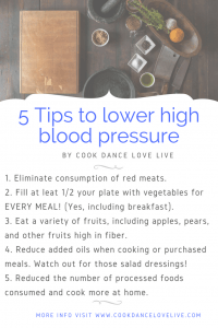 blood pressure reduce with food